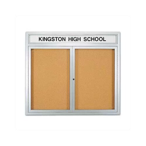 Marsh Wall-Mounted Enclosed Bulletin Boards with Name Header - Aluminum