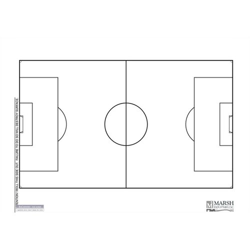 Marsh Magnetic Dry-Erase Coaching Aides Mat - Soccer