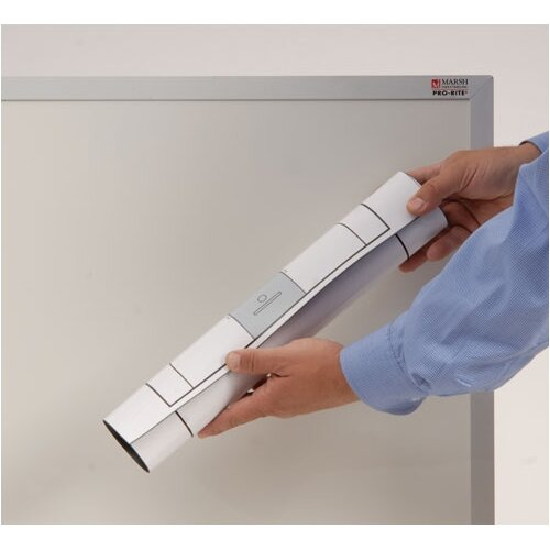 "Marsh Magnetic Dry-Erase Teaching Aides Mat - Grid Lines 40""H x 70""W x .1""D"