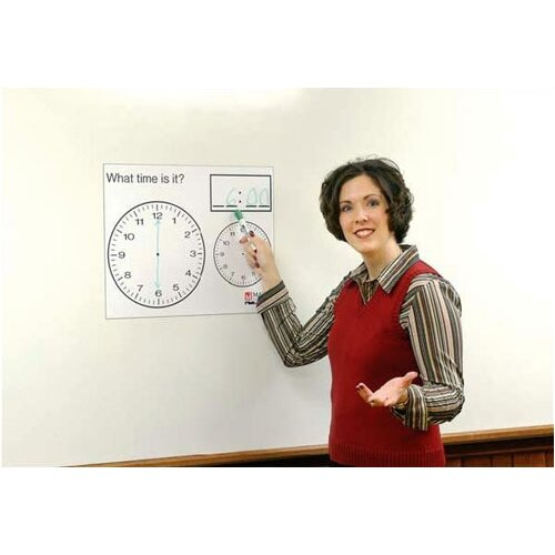 "Marsh Magnetic Dry-Erase Teaching Aides Mat - Penmanship Lines 40""H x 40""W x .1""D"
