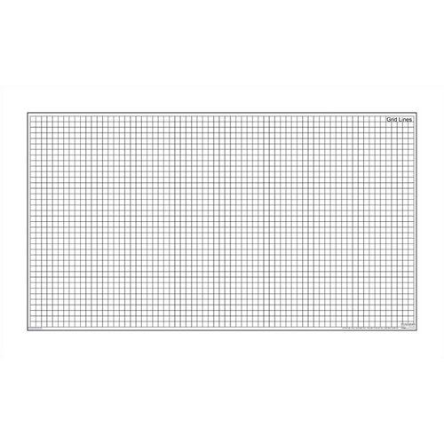 "Marsh Magnetic Dry-Erase Teaching Aides Mat - Grid Lines 40""H x 70""W x .1""D"