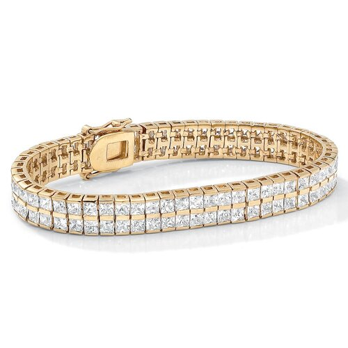 Gold Plated Cubic Zirconia Tennis Bracelet