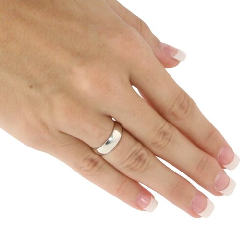 Palm Beach Jewelry Sterling Silver Wedding Band
