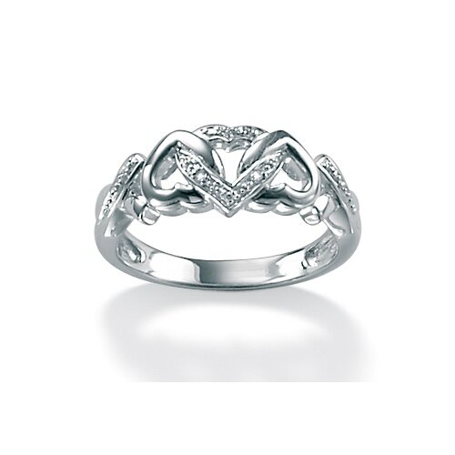 Palm Beach Jewelry Platinum/Silver Diamond Accent Ring
