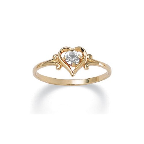 Palm Beach Jewelry Birthstone Heart-Shaped Ring