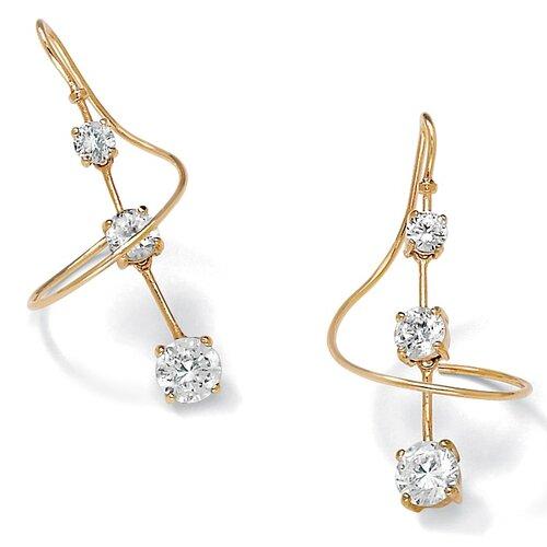 Sterling Silver Cubic Zirconia Pierced Earrings