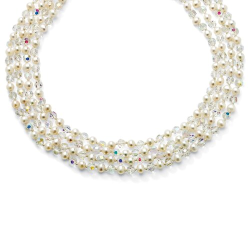 Freshwater Cultured Pearl/Crystal Necklace