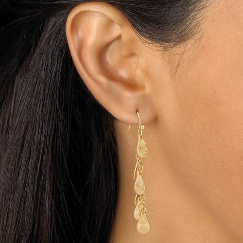 Palm Beach Jewelry Gold Plated Multi-Disk Jewelry Set