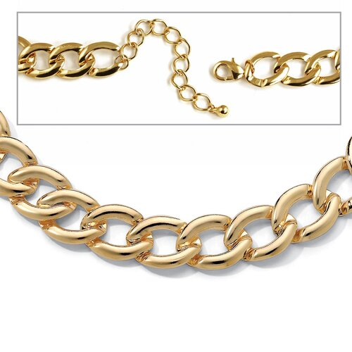 Gold Plated Curb-Link Necklace