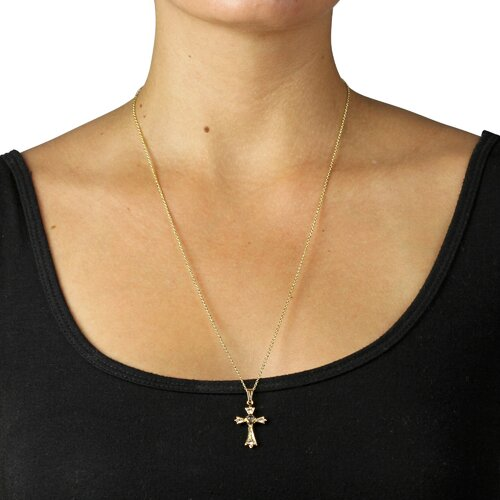 Palm Beach Jewelry Gold Plated Lord's Prayer Cross Pendant
