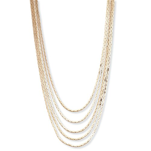 Palm Beach Jewelry Goldtone Multi Strand Cobra Link Necklace