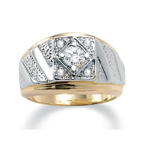 Palm Beach Jewelry Men's 14K Crystal Gold - Plated Ring