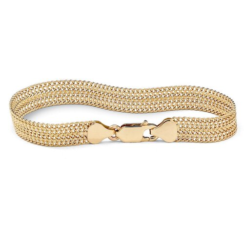 Palm Beach Jewelry 18K Sterling Silver Mesh Bracelet