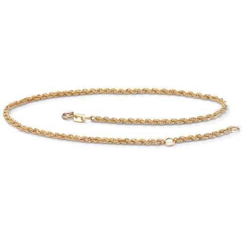 Rope 10K Gold Ankle Bracelet
