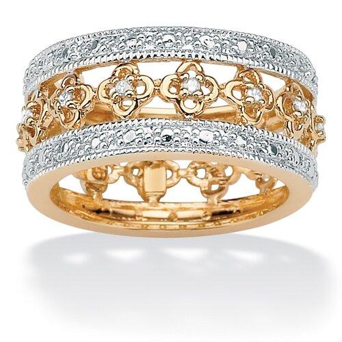 Palm Beach Jewelry Sterling Silver Diamond Eternity Band