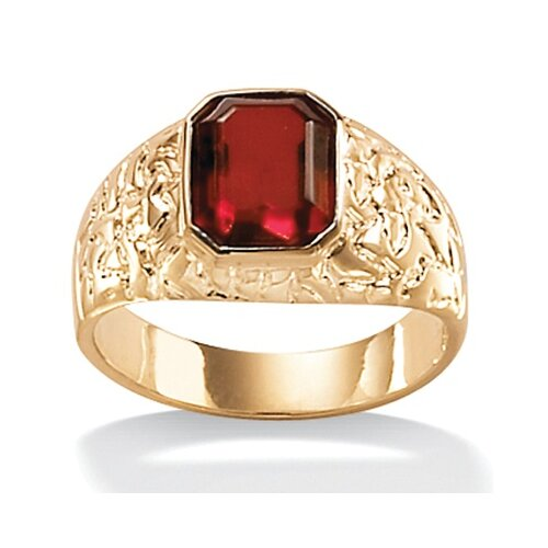 Palm Beach Jewelry Men's Simulated Ruby Ring