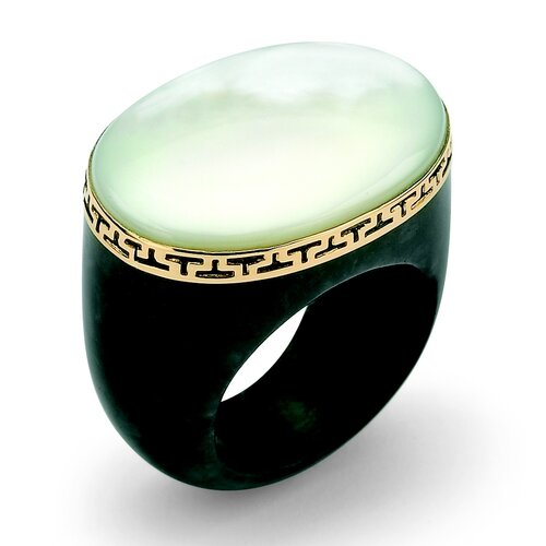 Palm Beach Jewelry Jade and Mother of Pearl Ring