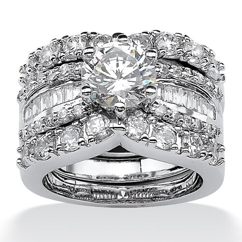 Palm Beach Jewelry Cubic Zirconia Wedding Ring Set