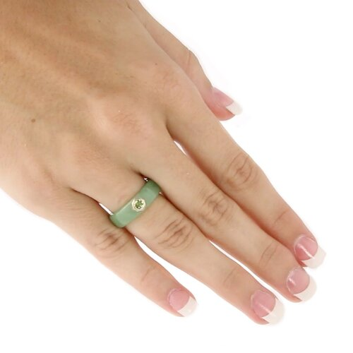 Palm Beach Jewelry Jade and Peridot Ring