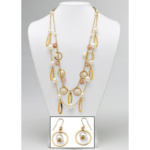 Simulated Cultured Pearl Beaded Jewelry Set