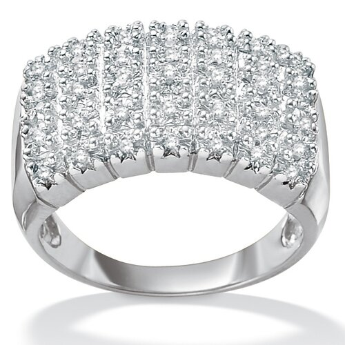 Palm Beach Jewelry Diamond Pave Cluster Ring