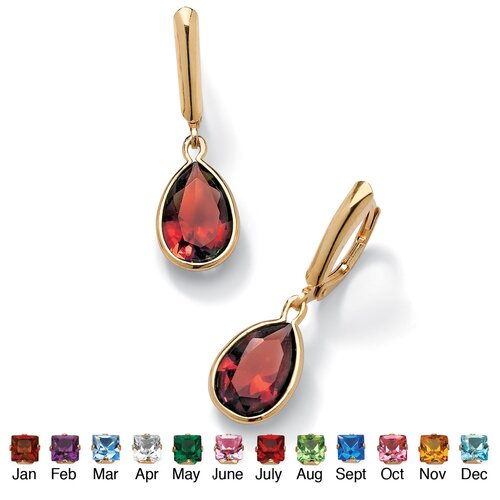 Palm Beach Jewelry Birthstone Drop Pierced Earrings