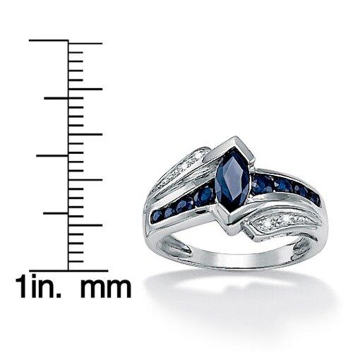 Palm Beach Jewelry Midnight Blue Sapphire Ring