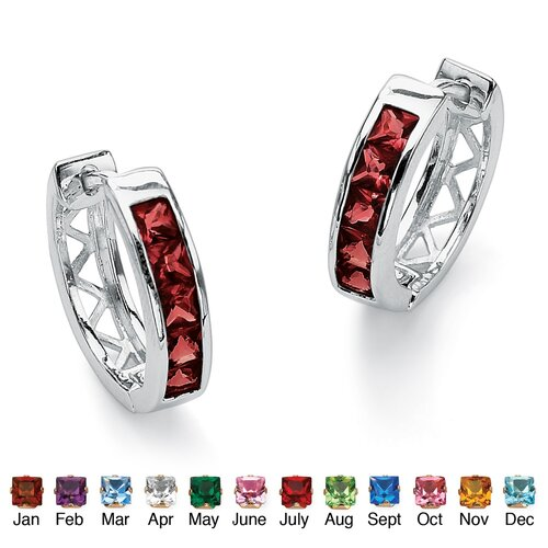 Palm Beach Jewelry Birthstone Huggie-Hoop Earrings