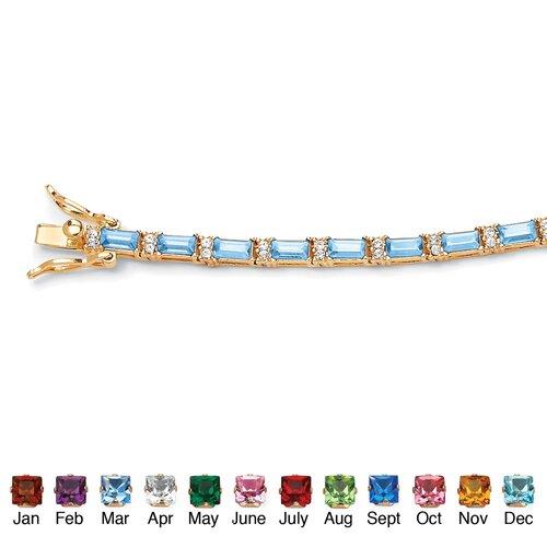 Palm Beach Jewelry Birthstone Crystal Tennis Bracelet