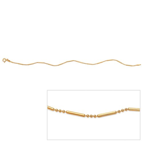 Palm Beach Jewelry Bar and Bead Ankle Bracelet