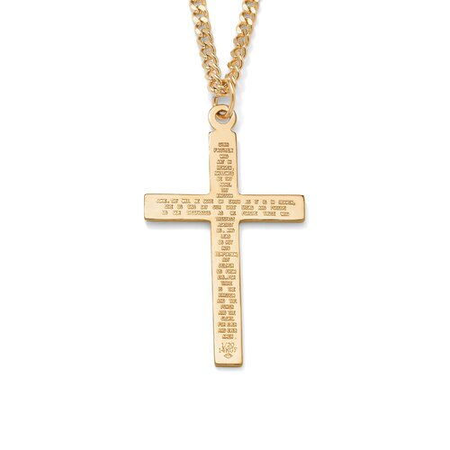 Lord's Prayer Cross Pendant and Chain