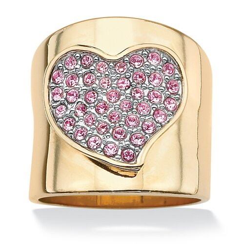 Palm Beach Jewelry Pink Crystal Heart Ring