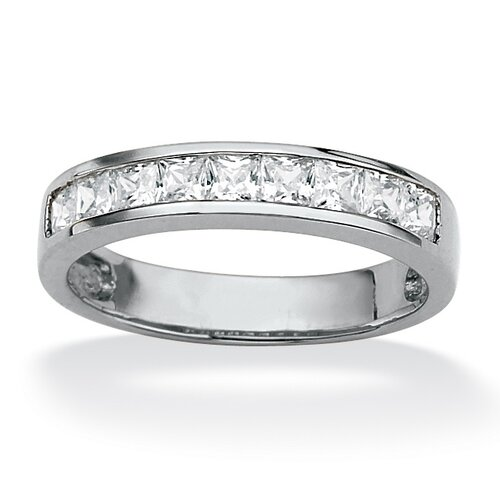 Palm Beach Jewelry Princess-Cut Cubic Zirconia Anniversary Ring