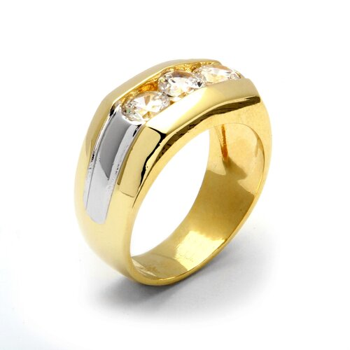 Palm Beach Jewelry Men's Triple Cubic Zirconia Ring