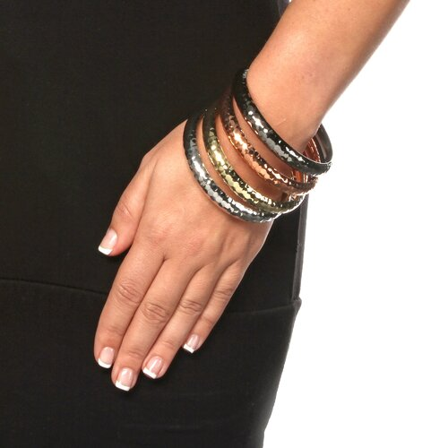 Palm Beach Jewelry Hammered Bracelets