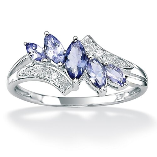 Palm Beach Jewelry Tanzanite & Diamond Accent Ring