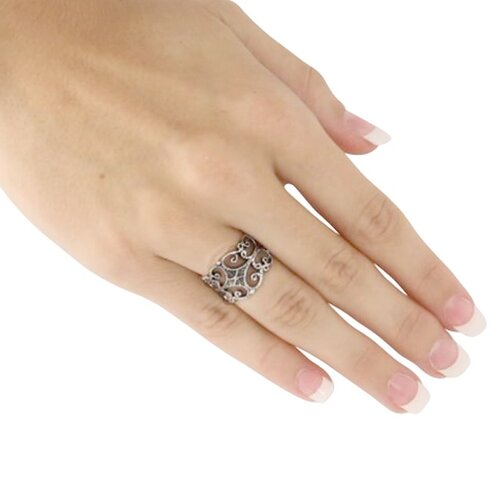 Palm Beach Jewelry Silver Filigree Ring