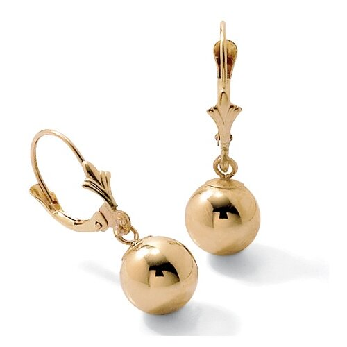 Palm Beach Jewelry 14K Gold Drop Pierced Earrings