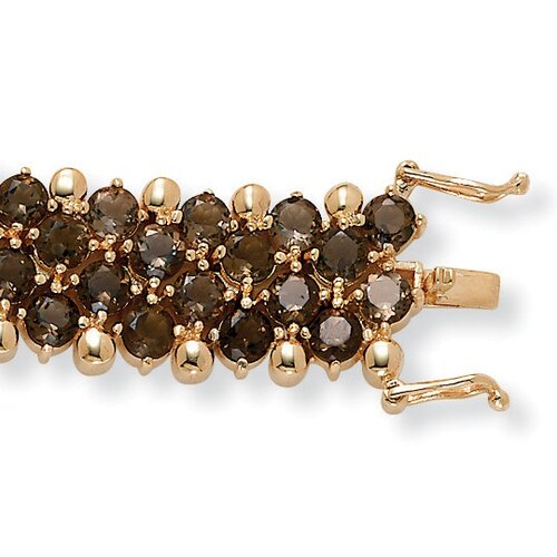 Palm Beach Jewelry Smoky Quartz Tennis Bracelet
