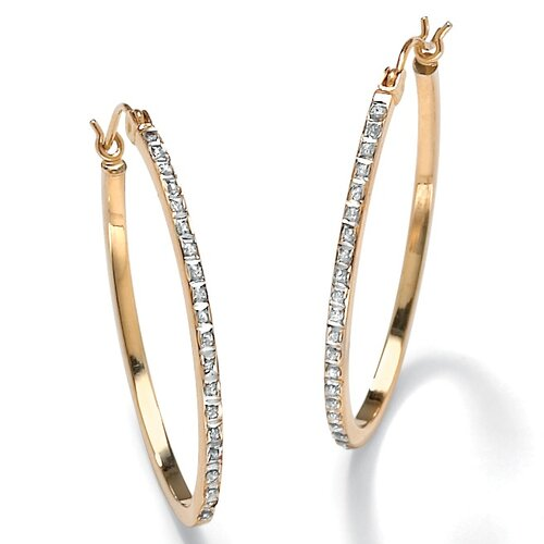 Diamond Single and Round Fascination Earrings