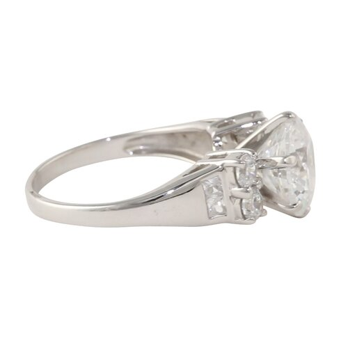 Palm Beach Jewelry 10k Gold Round Cubic Zirconia Radiant Ring