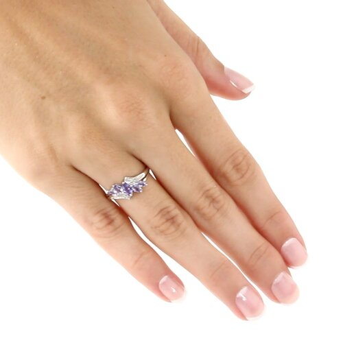 Palm Beach Jewelry Tanzanite Diamond Acc.10k Ring