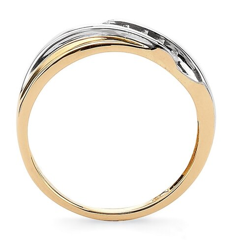 Palm Beach Jewelry 10k Gold Round Cubic Zirconia Diagonal Wedding Band Ring