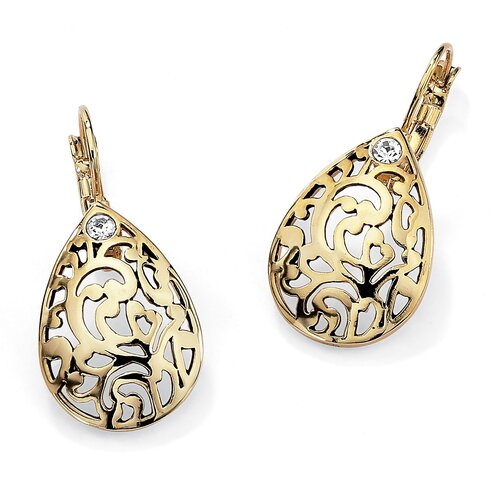 Round Filigree Pear Shaped Earrings