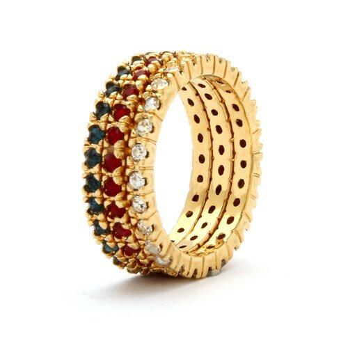Palm Beach Jewelry Birthstone Brass Round Eternity Band Ring