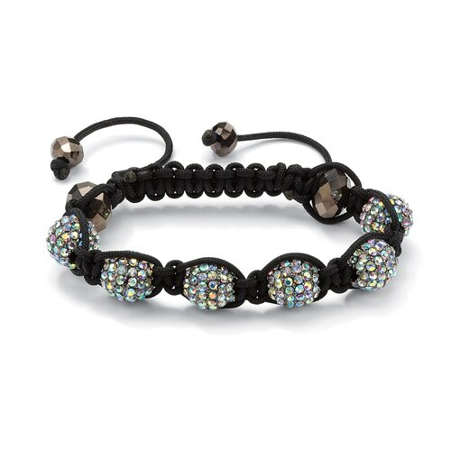 Palm Beach Jewelry Ball Crystal and Glass Bracelet
