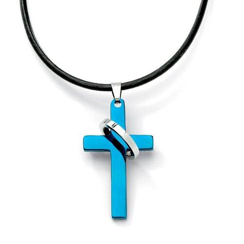Palm Beach Jewelry Stainless Steel Cross Pendant