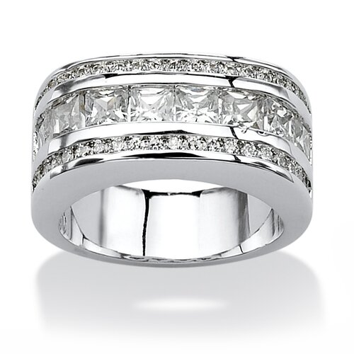 Round Cut Cubic Zirconia Band