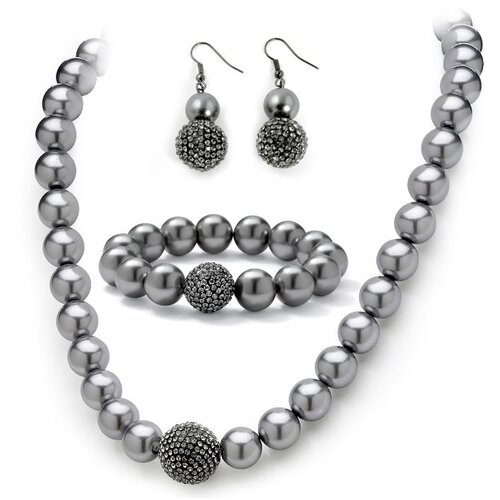 Cultured Pearl Crystal Jewelry Set