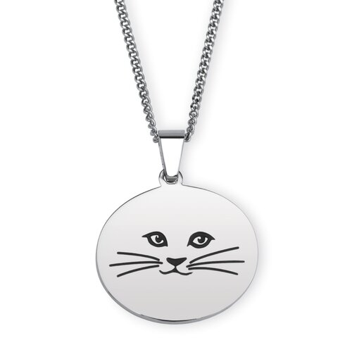 Palm Beach Jewelry Stainless Steel Cat Lady Necklace